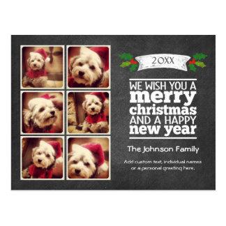 Instagram Holiday Chalkboard Photo Card