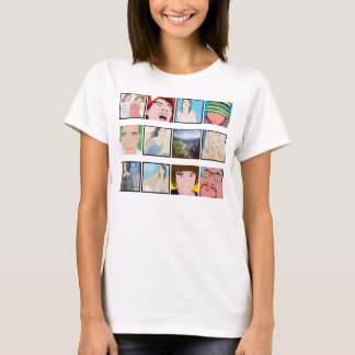 Instagram Mosaic Photo Personalised Ladies Apparel T-Shirt