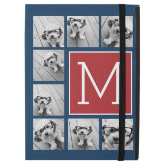 "Instagram Photo Collage Monograms - Red Navy iPad Pro 12.9"" Case"