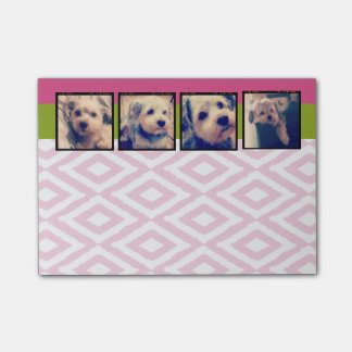Instagram Photo Collage with Ikat hot pink pics Post-it Notes