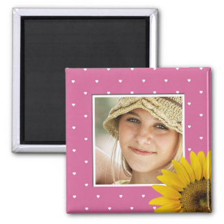 Instagram Photo | Create Your Own Sunflower Pink Magnet