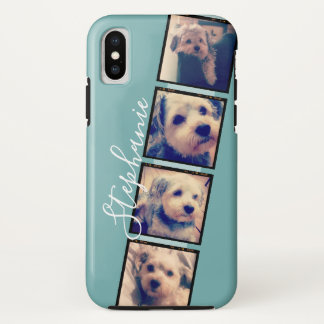 Instagram Photo Display - 4 photos film strip iPhone X Case