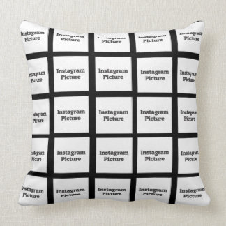 Instagram Pillow Replace with your Photos