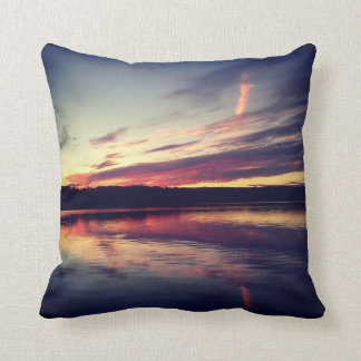 Instagram Pillow: Sunset on a Lake Throw Cushion