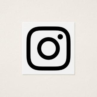 instagram promo square business card