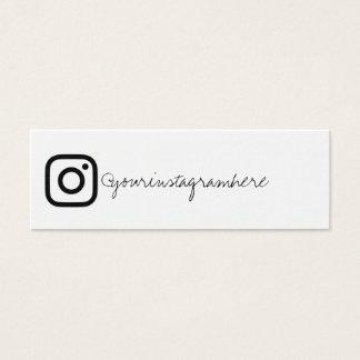 instagram social media black white business card