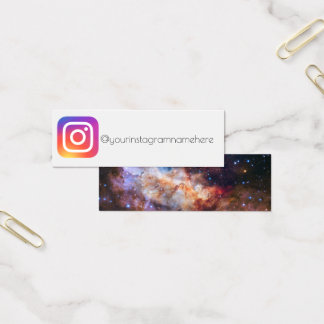 instagram social media space trendy business card