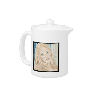 Instagram Two Photo Personalized Teapot