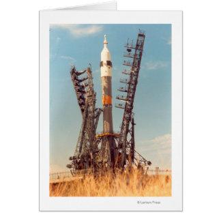 Installation of Soyuz Spacecraft at Baikonur Card