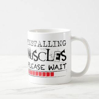 Installing Muscles, Please Wait [Grunge Version] Coffee Mug