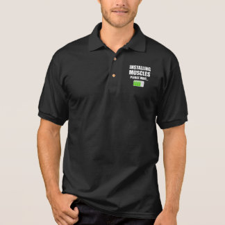 Installing Muscles Please Wait Polo Shirt