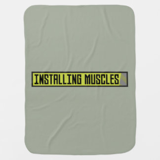 Installing muscles workout Zh1sq Baby Blanket