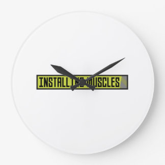 Installing muscles workout Zh1sq Large Clock