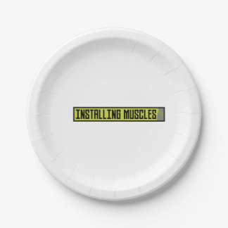 Installing muscles workout Zh1sq Paper Plate