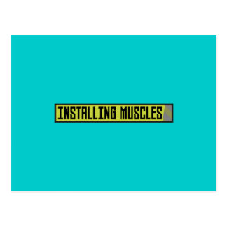 Installing muscles workout Zh1sq Postcard