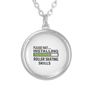 Installing Roller Skating Skills Silver Plated Necklace