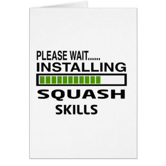 Installing Squash Skills Card