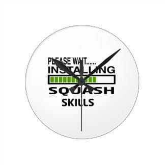 Installing Squash Skills Round Clock