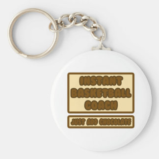 Instant BBall Coach Just Add Chocolate Keychain