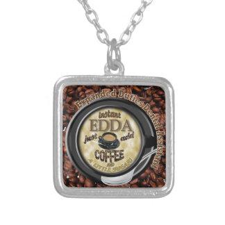 INSTANT EDDA ADD COFFEE SILVER PLATED NECKLACE
