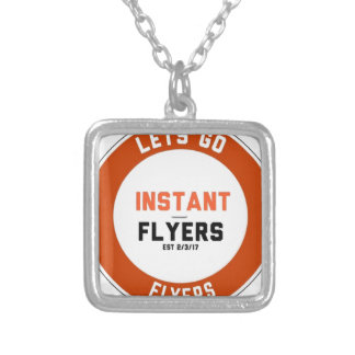 Instant_Flyers Silver Plated Necklace
