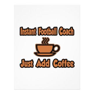 Instant Football Coach...Just Add Coffee Custom Flyer