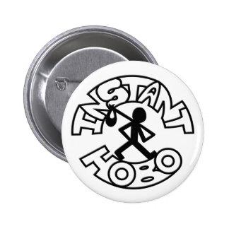 Instant Hobo_Hobo Man_Logo_ 6 Cm Round Badge