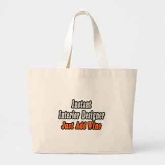 Instant Interior Designer...Just Add Wine Canvas Bags