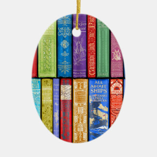 Instant Library ~ Story Time ~Light and Bright Ceramic Ornament