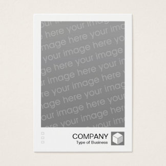 Instant Photo - Logo Panel - 50% Gray Business Card