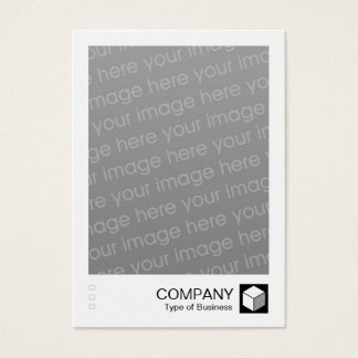 Instant Photo - Logo Panel - Black Business Card