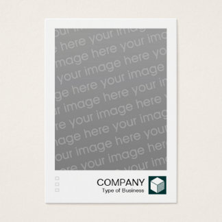 Instant Photo - Logo Panel - Dark Green Business Card