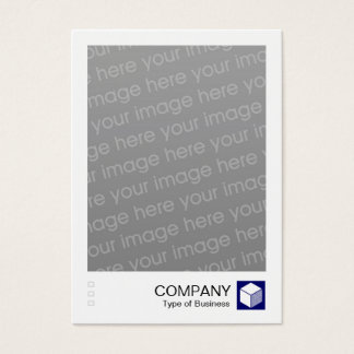 Instant Photo - Logo Panel - Deep Navy Business Card