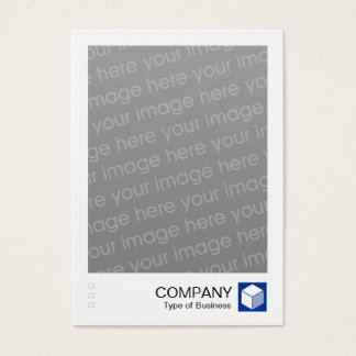 Instant Photo - Logo Panel - Navy Business Card