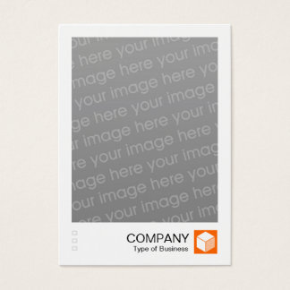 Instant Photo - Logo Panel - Orange Business Card