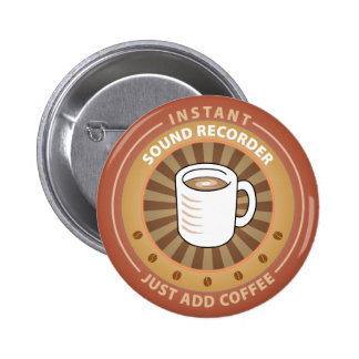 Instant Sound Recorder 6 Cm Round Badge