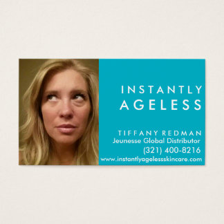 Instantly Ageless Skincare Photo Business Card