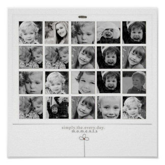 instgram photo collage poster