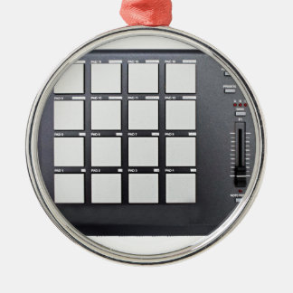 Instrumentals MPC Silver-Colored Round Decoration