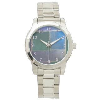 Insubordinate Bling | Blue Green Purple Fractal Wrist Watches