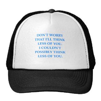 insult mesh hats
