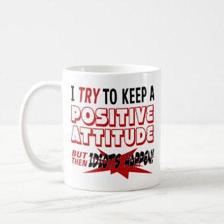 Insult | Idiots Happen | Funny Coffee Mug
