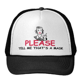 Insulting slogan cap