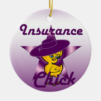 Insurance Chick #9 Ceramic Ornament