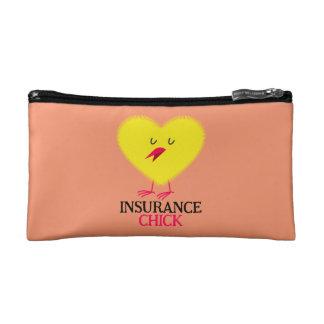 Insurance Chick Zipper Pouch Cosmetic Bag
