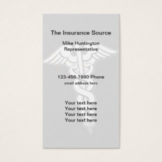 Insurance Company Rep Business Card