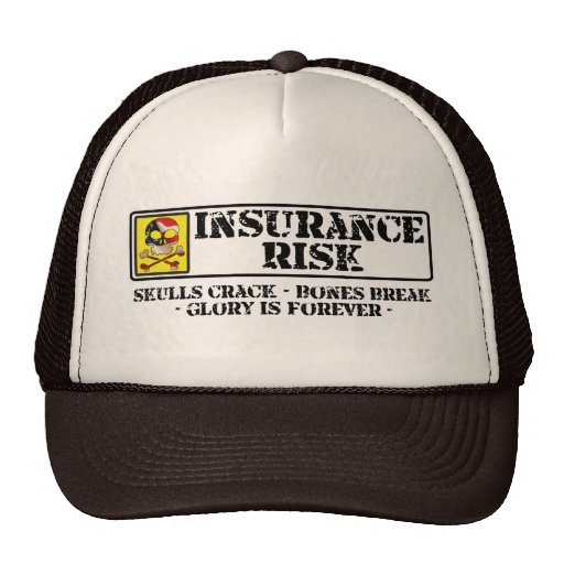 Insurance Risk - Skulls Crack - Bones Break Mesh Hats