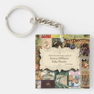 intage Books Bring A Book Baby Shower Thank You Key Ring