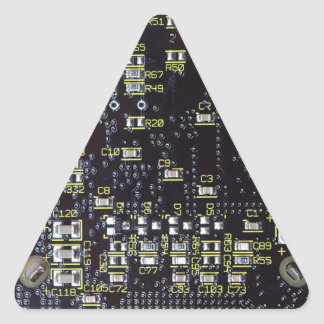 Integrated Circuit Board Gift Tag Triangle Sticker
