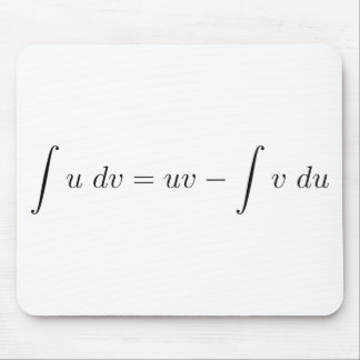 Integration by parts mouse pad